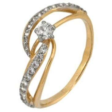 кольцо c фианитами из красного золота 2200201598