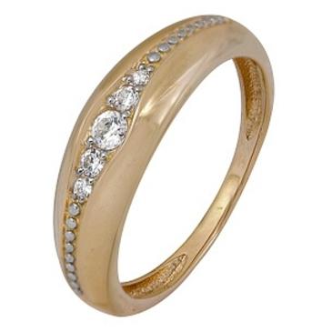 кольцо c фианитами из красного золота 2200202461