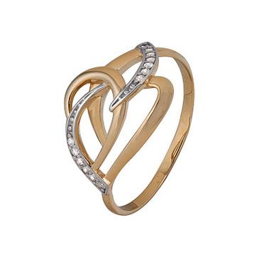 кольцо c фианитами из красного золота 1200202748л