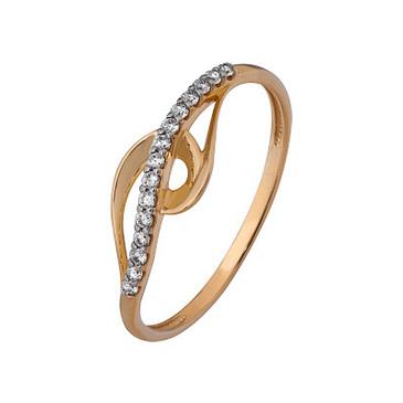 кольцо c фианитами из красного золота 1200202810л