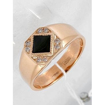 кольцо c фианитами из красного золота 11025436 от EVORA