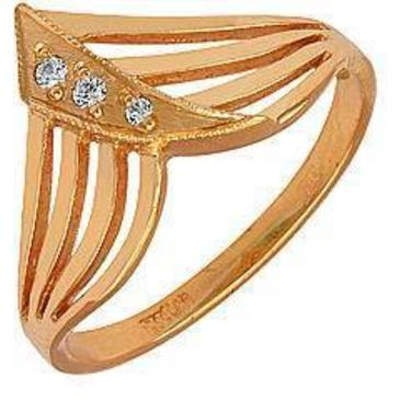 кольцо c фианитами из красного золота 1102079