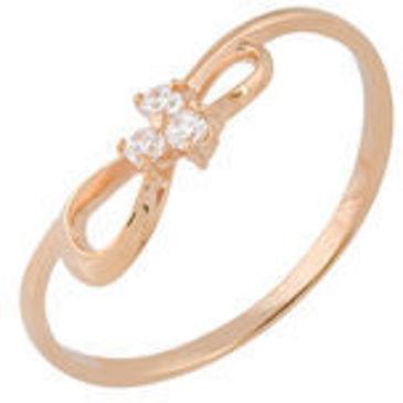 кольцо c фианитами из красного золота 11027183