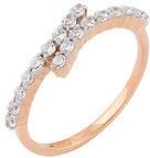 кольцо c фианитами из красного золота 11027213