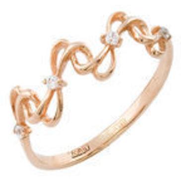 кольцо c фианитами из красного золота 11027258