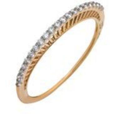 кольцо c фианитами из красного золота 11027286