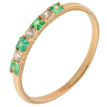 кольцо c фианитами из красного золота 11028143