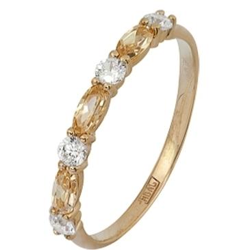 кольцо c фианитами из красного золота 11028248
