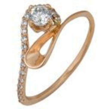 кольцо c фианитами из красного золота 1200001332