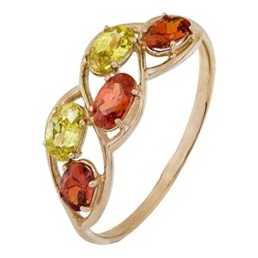 кольцо c фианитами из красного золота 1200001658