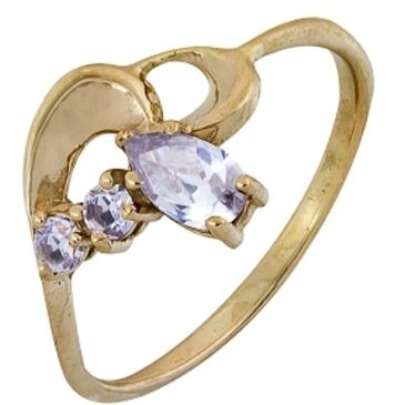 кольцо c фианитами из красного золота 1200001869