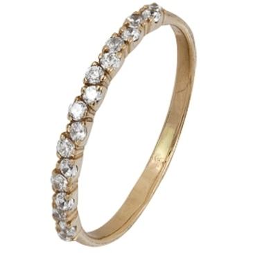 кольцо c фианитами из красного золота 1200001882