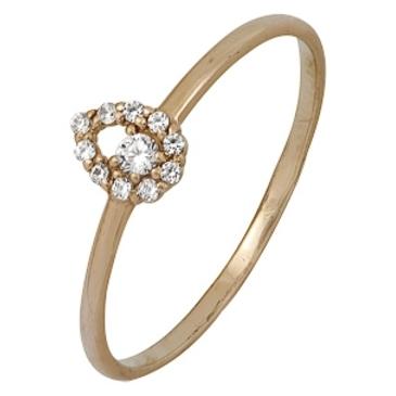 кольцо c фианитами из красного золота 1200001979
