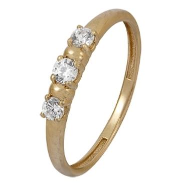кольцо c фианитами из красного золота 1200002124
