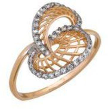 кольцо c фианитами из красного золота 1200201520
