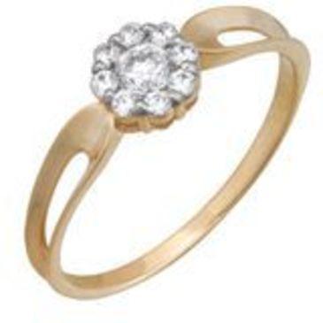 кольцо c фианитами из красного золота 1200201559