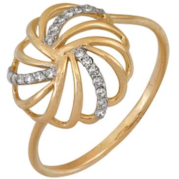кольцо c фианитами из красного золота 1200201566