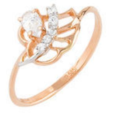 кольцо c фианитами из красного золота 12027230