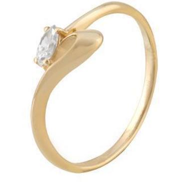 кольцо c фианитом из красного золота 11023285