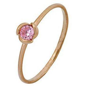 кольцо c фианитом из красного золота 1200001978
