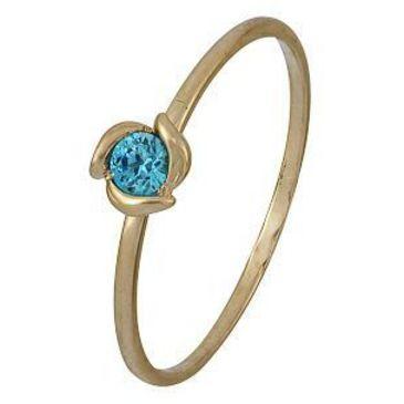 кольцо c фианитом из красного золота 1200001978-2