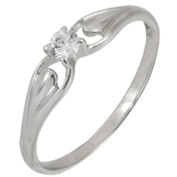 кольцо c фианитом из красного золота 13028048