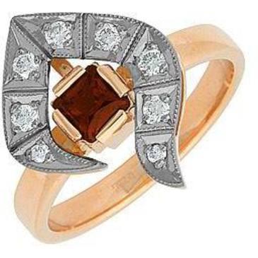 кольцо c гранатом из красного золота 12331997