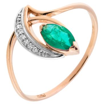 кольцо c бриллиантами из красного золота 12432244