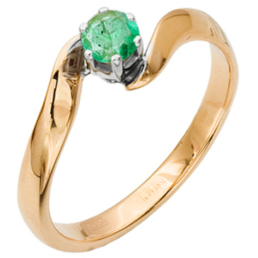 кольцо c изумрудом из красного золота 12403177