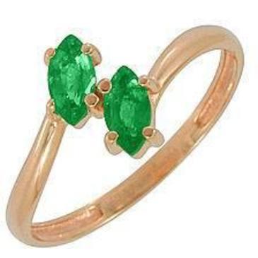 кольцо c изумрудом из красного золота 11405144