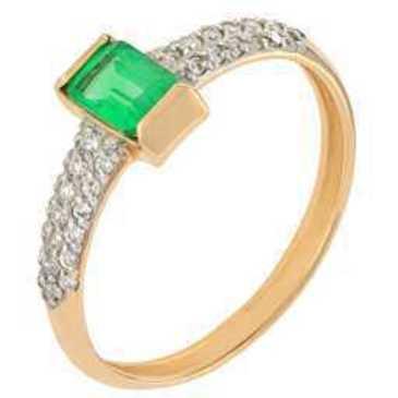кольцо c изумрудом из красного золота 11435419