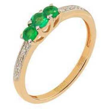кольцо c изумрудом из красного золота 11438325