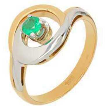 кольцо c изумрудом из красного золота 12403181