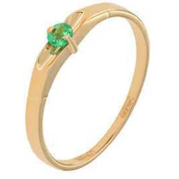 кольцо c изумрудом из красного золота 11408278