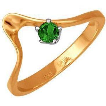 кольцо c изумрудом из красного золота 11401085
