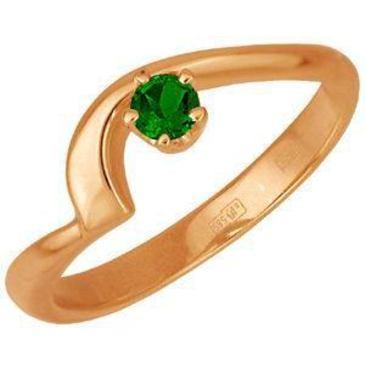 кольцо c изумрудом из красного золота 11401088