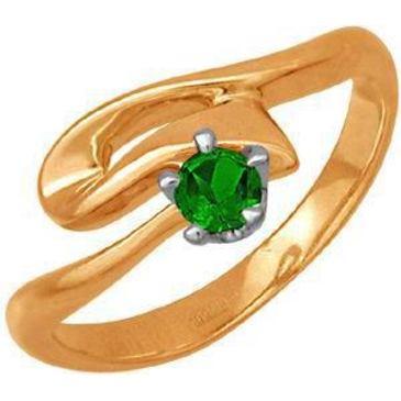 кольцо c изумрудом из красного золота 11401089