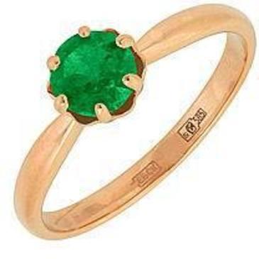 кольцо c изумрудом из красного золота 11405018