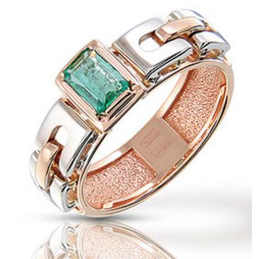 кольцо c изумрудом из красного золота 12401494