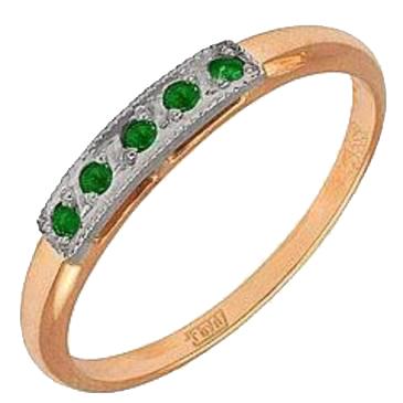 кольцо c изумрудом из красного золота 1240243