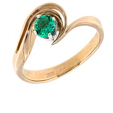 кольцо c изумрудом из красного золота 12403160