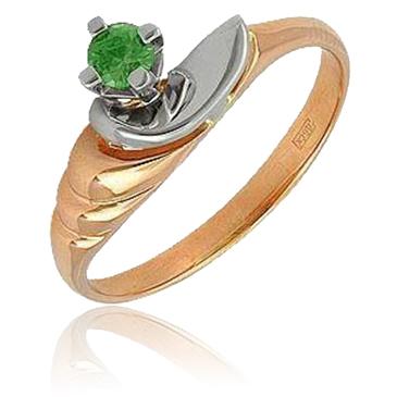 кольцо c изумрудом из красного золота 1240369