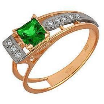 кольцо c изумрудом из красного золота 12431626