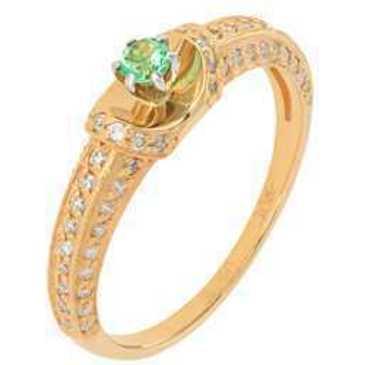 кольцо c изумрудом из красного золота 12438180