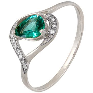 кольцо c изумрудом из красного золота 1910202213