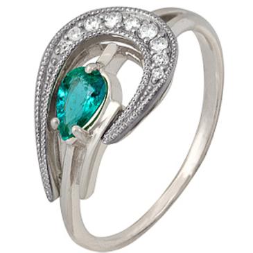 кольцо c изумрудом из красного золота 1916201881