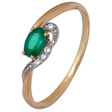 кольцо c изумрудом из красного золота 1910202288