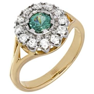 кольцо c изумрудом из красного золота 12433799