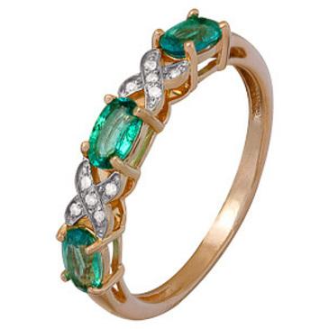 кольцо c изумрудом из красного золота 1910202347