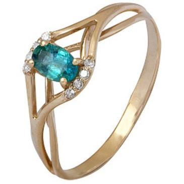 кольцо c изумрудом из красного золота 1910002351